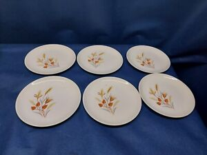 "Vintage Taylor Smith and Taylor ""AUTUMN HARVEST""Set/Bread/Salad Plates Retired"