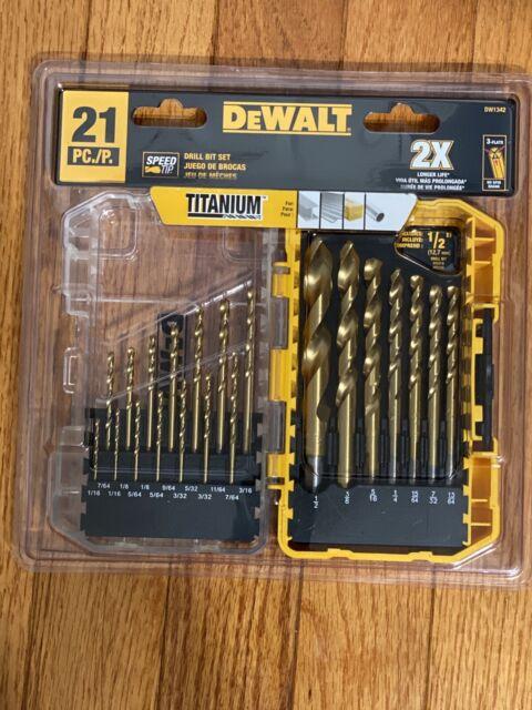 Dewalt 21 Piece Drill Bit Set Black Carbon For Sale Online Ebay
