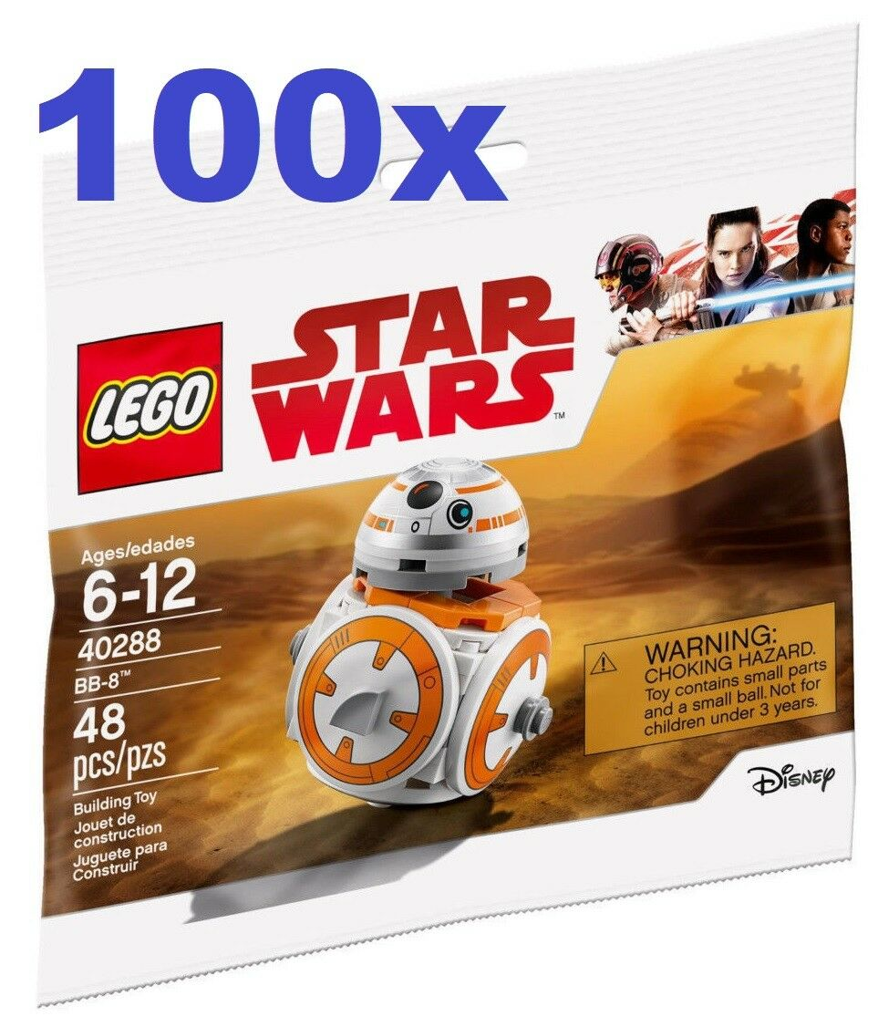 LEGO® 100x 40288 Star Wars  POLYBAG  BB-8  - LIMITED  NEW / FACTORY SEALED
