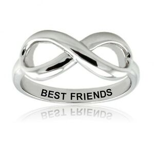 image is loading sterling silver 925 best friends infinity wedding promise - Infinity Wedding Rings