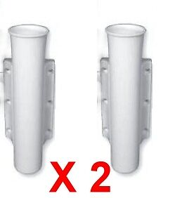 Rod Holders x 2 Side Mount White