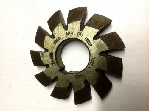 6 Modulfräser  Involute cutter M5,5  N1 5 3 2 7 4 8  HSS 20°