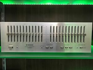 PIONEER-SG-9800-Vintage-1979-Graphic-Equaliser-Blue-Series-100-Working-Like-New