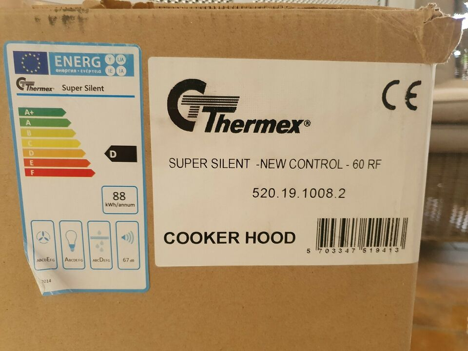 Emhætte, Thermex Super Silent GT60, b: 60 d: 45 h: 411