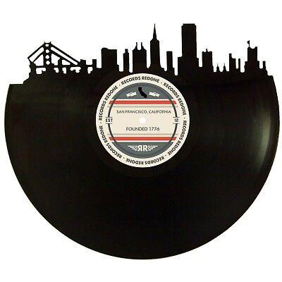 San Francisco Skyline Vinyl Record Art