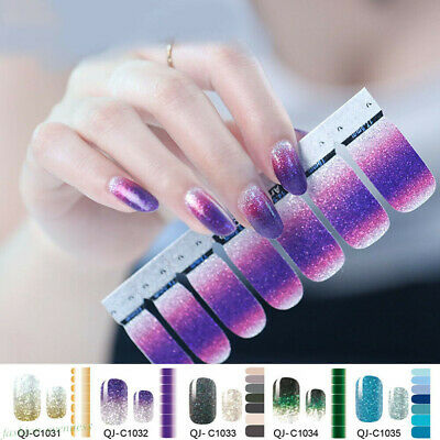Nail Polish Strips Sticker Gradient Color Nail Decals Tips Manicure Decor Ebay