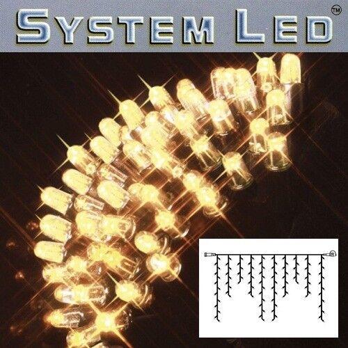 Système LED Eisregen-Guirlande EXTRA 2x1m 100er Blanc Chaud Noir 465-36