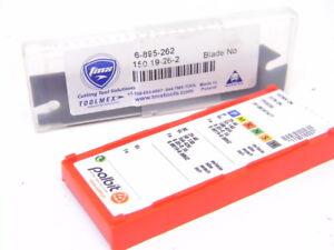 NEW-TOOLMEX-6-895-722-Cut-Off-Grooving-BLADE-10pcs-Carbide-Inserts-GTN-2N