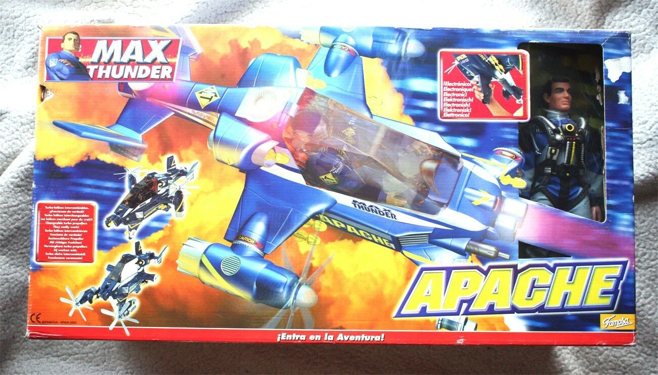 APACHE HELICOPTERO de MAX THUNDER (Action Figure, Spanish G.I.JOE). 2018, NUEVO