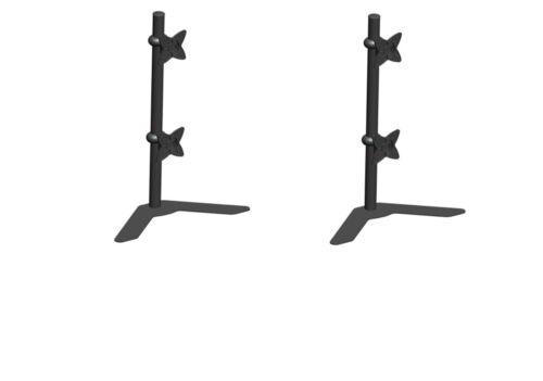 Vertical Computer LCD Dual Monitor Adjustable Tilt Swivel Desktop Stand 2 pack