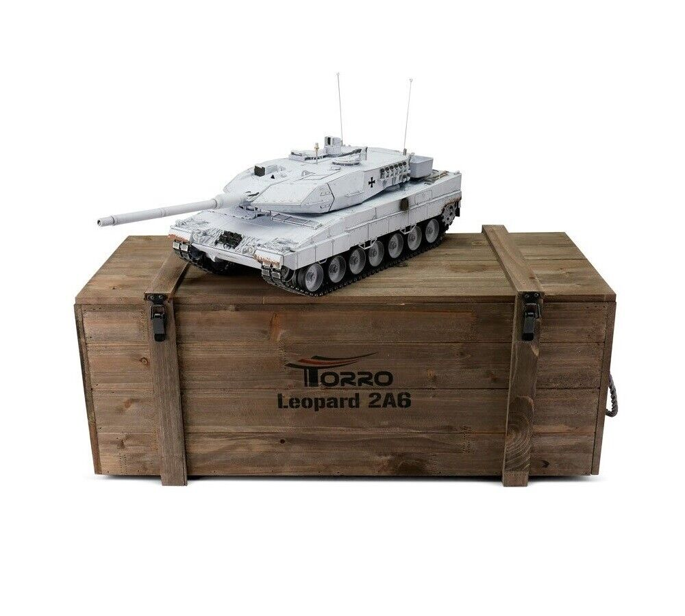 1 16 Torro Leopard 2A6 RC Tank 2.4GHz Airsoft Metal Edition PRO United Nations
