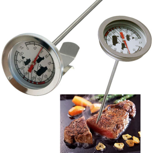 Backofen Thermometer Bratenthermometer Edelstahl //Fleischthermometer Grill  A+