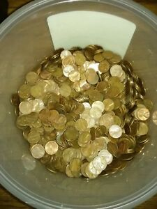 10.00$ face value Copper Pennies 1959-1982