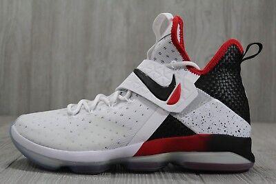 35 Nike Lebron XIV 14 Flip The Switch White Black Shoes 10 ...
