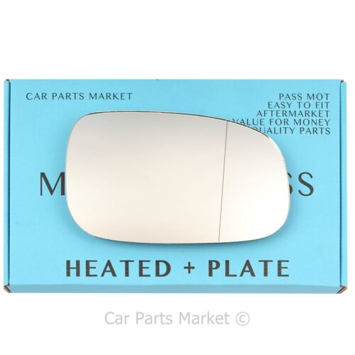 plate Right Driver side Wide Angle Wing mirror glass for Volvo v50 06-09 heated