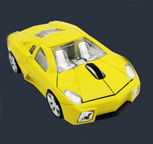 Cordless 2.4Ghz Wireless Lamborghini car Mouse Optical Gaming Mice USB Dongle US