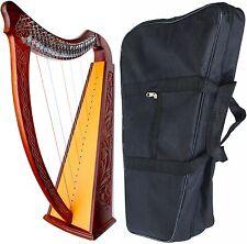 "Celtic Irish LEVERS Harp 22 Strings Lap FOLK DH820 37"" DEURA BRAND"