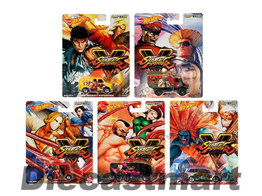 Hot Wheels 1 64 Sealed Case 2018 Street Fighter Capcom Pop Culture DLB45-956S