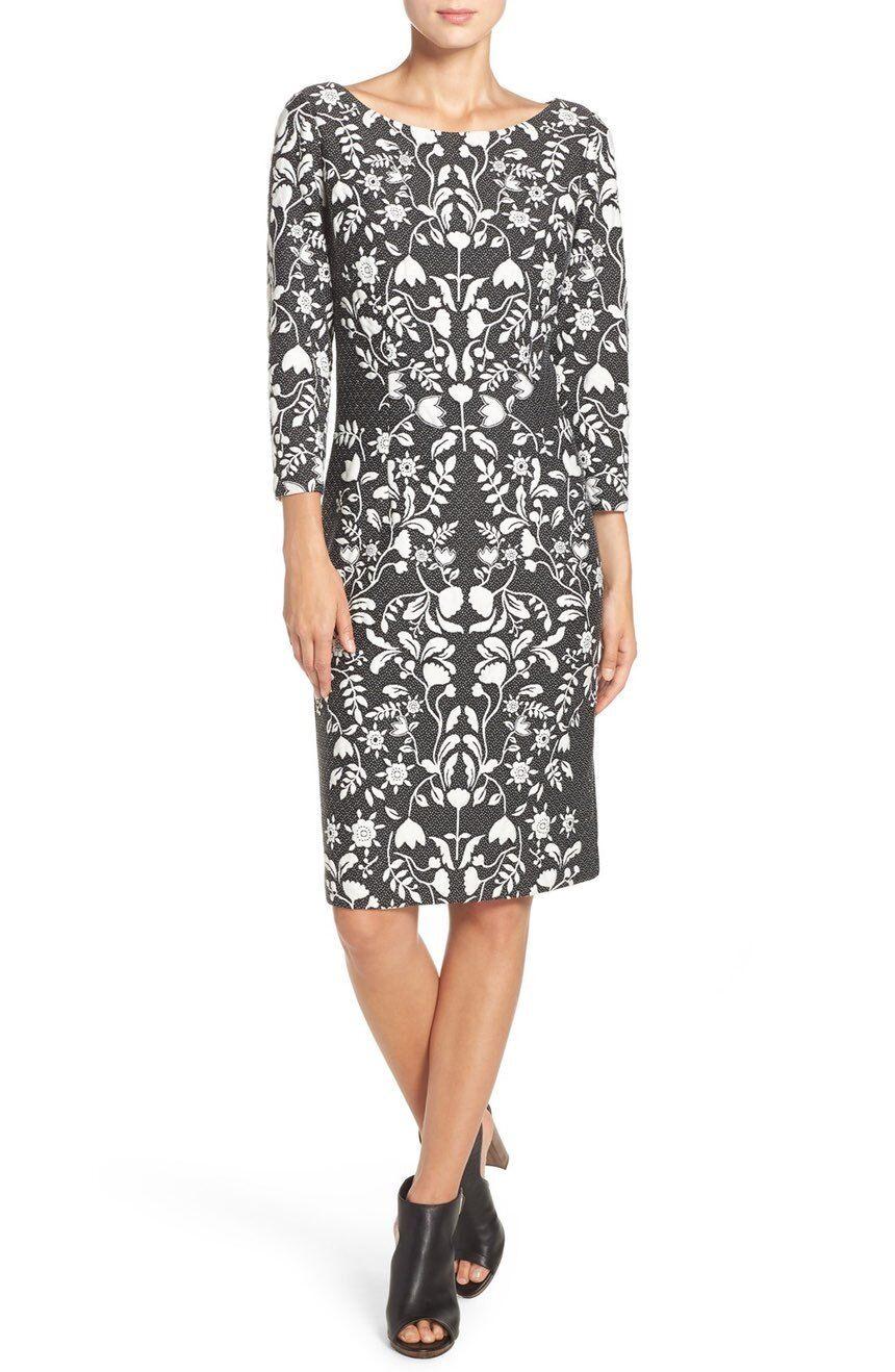 Eliza J Jacquard Knit Sheath Dress( Größe 6)