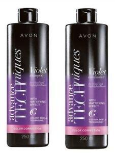 AVON-Violet-Colour-Correction-Shampoo-amp-Conditioner-For-Blonde-Hair-250ml