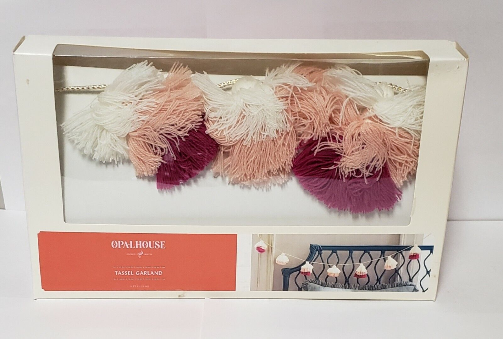 5 Pink Tassel Bunting Garland Decorative Wall Hanging Opalhouse For Sale Online Ebay