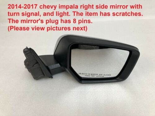 2014-2017 chevy impala right side mirror with turn signal 23410496
