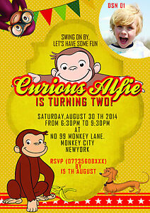 Curious George Party Invitations