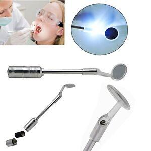 Neu-Zahnarzt-Mundspiegel-mit-LED-Licht-Dental-Mouth-Mirror-wi-Bright-LED-Light