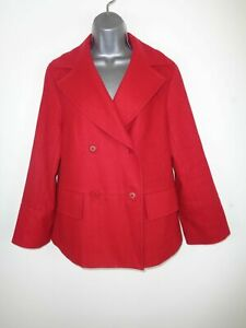 WOMENS-EPISODE-RED-BUTTON-UP-DOUBLE-BREASTED-WOOL-FORMAL-COAT-JACKET-UK-SIZE-12