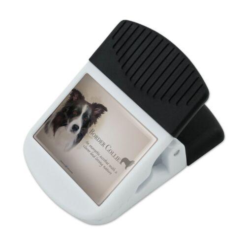 Border Collie Dog Breed Refrigerator Fridge Magnet Hanging Hook Note Snack Clip