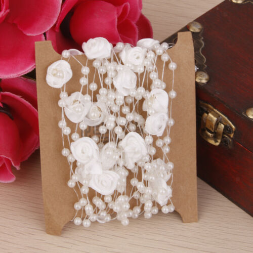 5M Fishing Line Pearls Beads Chain Garland Flower String for Wedding Party