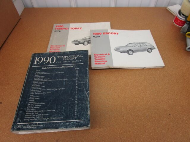 1990 Ford Tempo Escort Mercury Topaz Shop Service Dealer