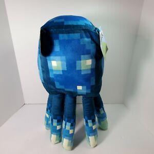 "MINECRAFT Earth Glow Squid 19"" Pillow Buddy Glow In The Dark Plush Mojang"