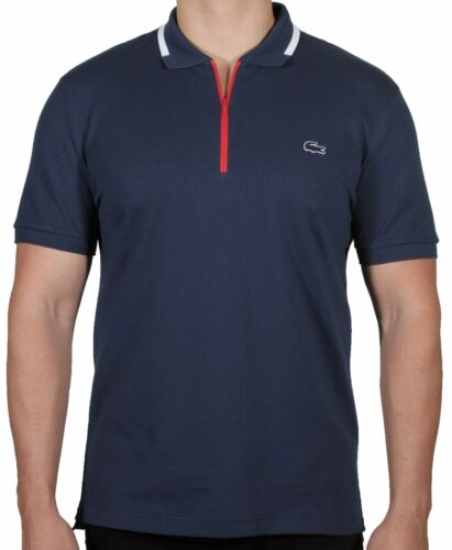 Lacoste Men/'s Short Sleeve Polo Shirt Made In France Zippered PH2069-51 ZWA