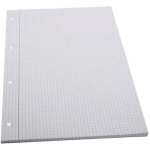 a4 x 100 sheets squared graph grid paper school writing drawing pad