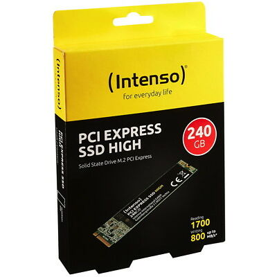 Intenso SSD M.2 PCI Express interne Festplatte High Performance 3D NAND 240GB