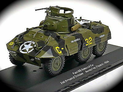 Avranches Francia 1944 Eaglemoss Military 1:43 WWII Ford M8 Armored Car 2nd Div