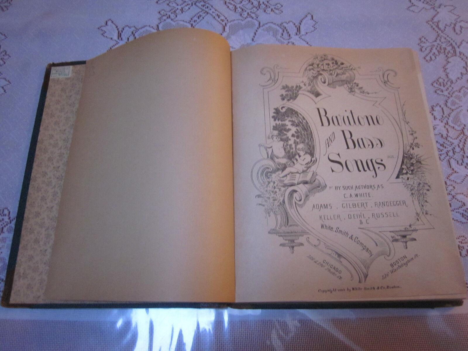 Bariton and Bass Songs; C.A Weiß et.al.  1883