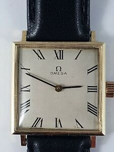 Omega 14k gold men's watch, very nice collector watch ! works !
