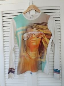 Custo-Barcelona-Ladies-Long-Sleeve-Summer-T-Shirt-Size-2-UK-8-10-12