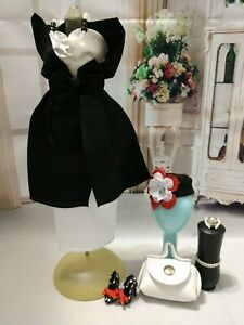 FOR-BARBIE-DOLL-WHITE-AND-BLACK-DRESS-OUTFIT-CLOTHES-SET-2