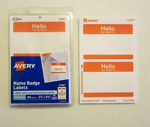 50 avery dennison red hello my name is name tags labels badges