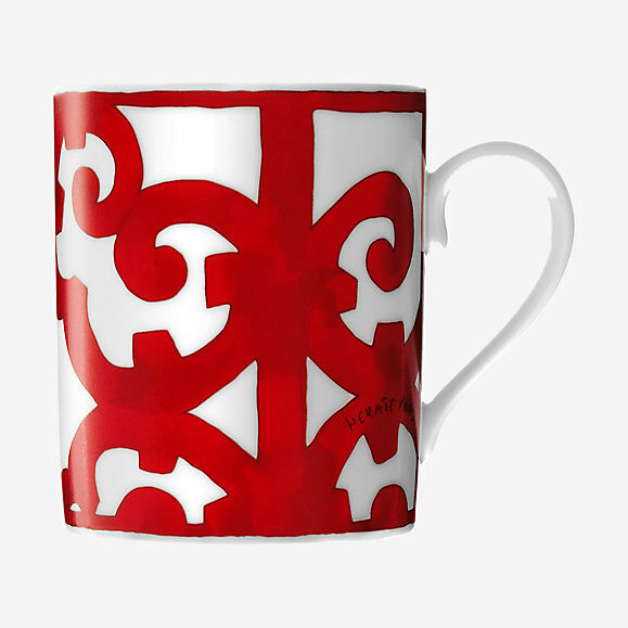 HERMES BALCON DU GUADALQUIVIR Mug NO.1  P011031P Brand New in Box PORCELAINE F SH