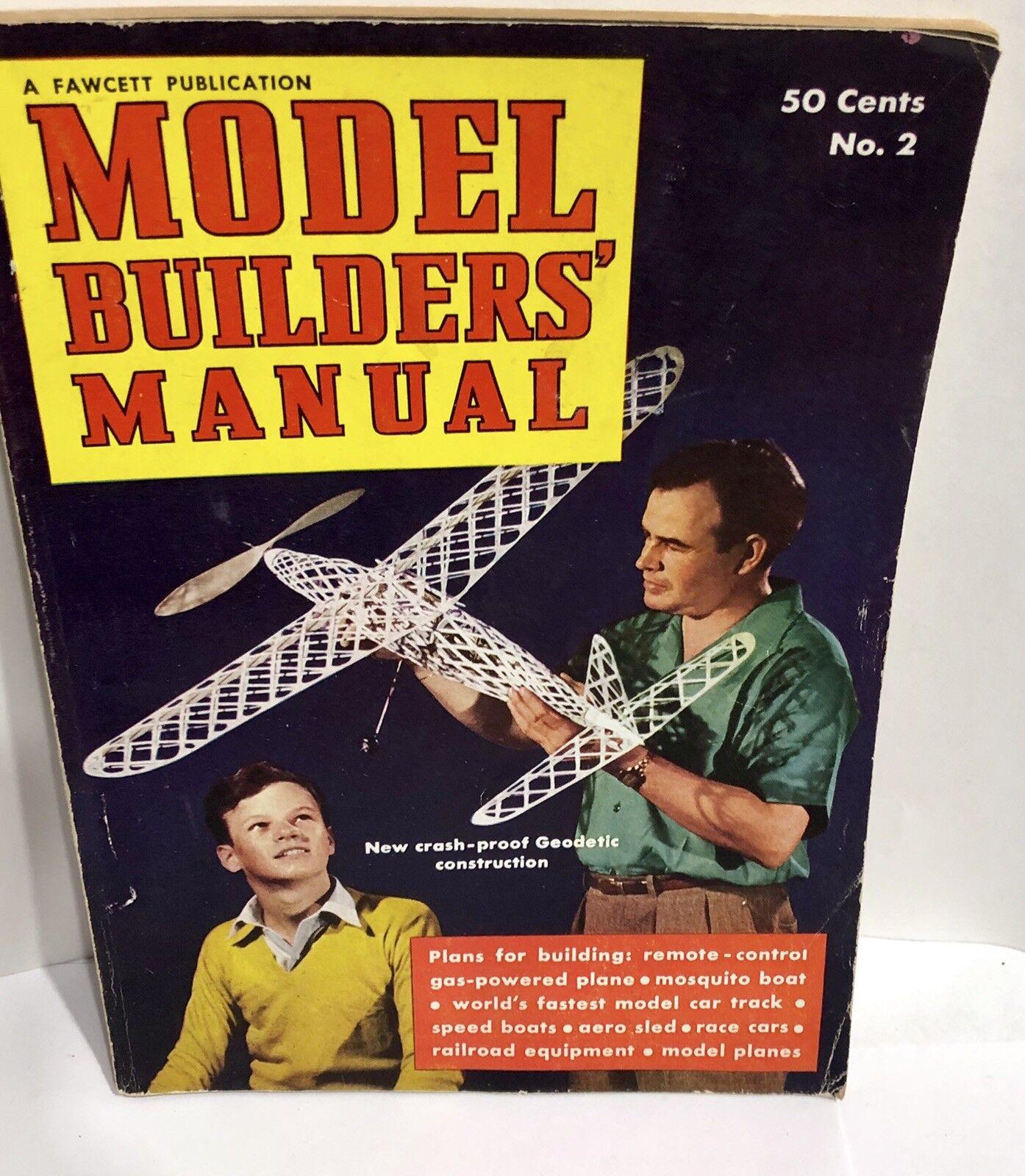 1941 Model Builders Handbook No 2 Plans for Trains Planes Cars Boats Fawcett