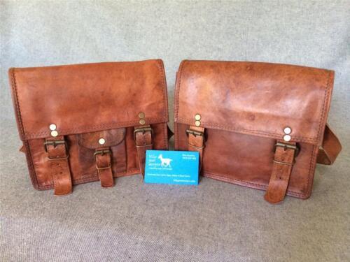 "Handmade Goat Leather 9/"" Shoulder Bag SXS//P Satchel iPad Mini Billy Goat Designs"