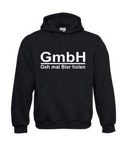 Felpa con Cappuccio da men i Gmbh - Geh Volte Birra Holen Detto Digreenente Fino
