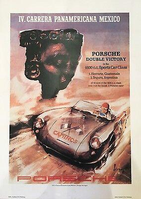 1953 Porsche Carrera Double Victory Poster