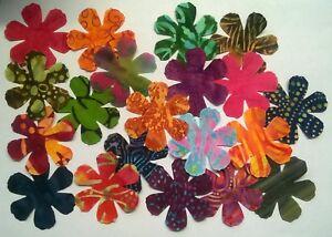 Batik Hearts fabric scraps Pack remnants quilting patchwork bundles 100/% cotton