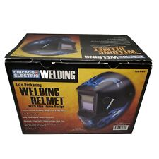 Chicago Electric Welding Helmet Blue Flame 61610 Auto Darkening Lens Mask Uvir