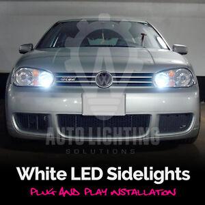 vw golf mk4 iv 4 tdi gti xenon white led sidelights bulbs sale ebay. Black Bedroom Furniture Sets. Home Design Ideas
